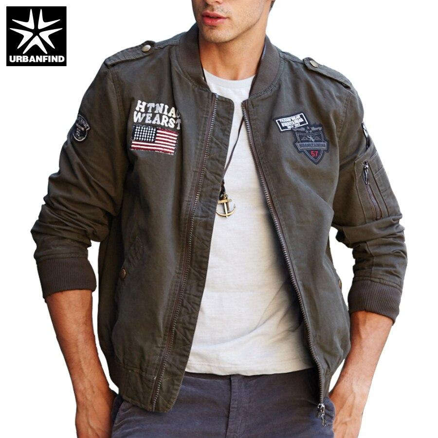 Mens khaki jacket casual - 2017 Men New Style Coats Man Military Field Jacket Fit Spring Autumn Black Khaki Army Green Size M 4xl Men Casual Outerwear