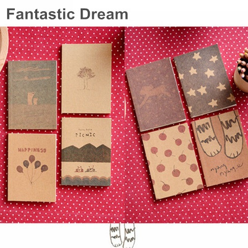Fantastic dream notebook Vintage Crayon diary book Portable agenda stationery caderno escolar material School supplies 6601 original ijoy saber 100 kit electronic cigarette 5 5ml diamond subohm tank 100w saber 20700 battery box mod