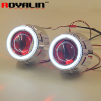 ROYALIN Projector Lens Headlights Angel Eye Devil Eyes White Bule Red Green For HID Xenon Bulbs