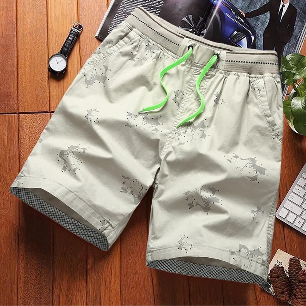 Fashion Men's Stripe Zip Pocket Elastic Cord Casual Cotton Sports Shorts Beach Pants Shorts Men Cool Summer Hot Sale Short Pants