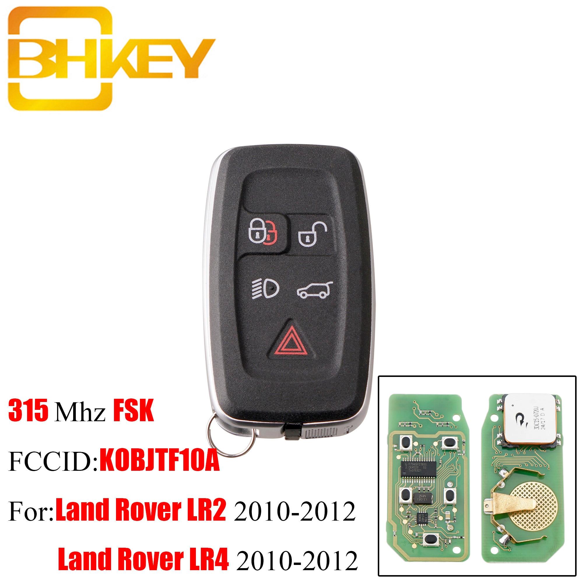 BHKEY 315Mhz 433Mhz 5Buttons Remote key Fob For Land Rover LR4 Range Rover Evoque Sport KOBJTF10A Original remote control key
