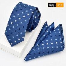 016 Mens Cotton Classic Skinny Ties Set Striped Slim Vintage Necktie Handkerchief Pocket Square Sets Lot Narrow 6cm Neck Tie