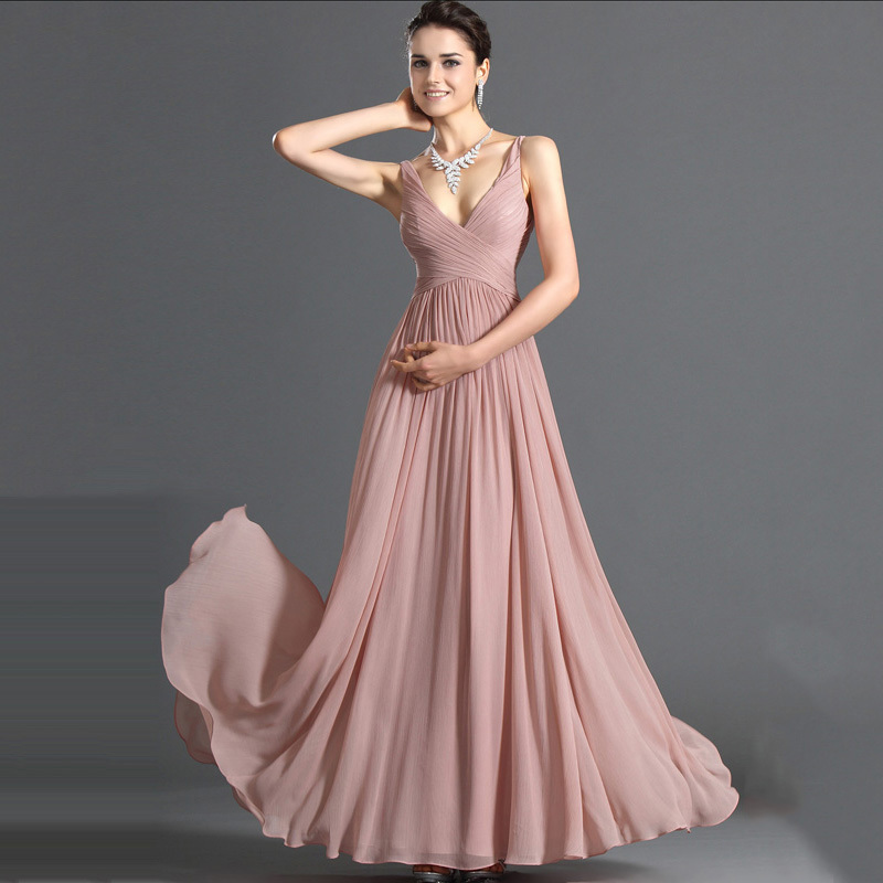 Online Buy Wholesale long pink flowing dress from China long pink ...