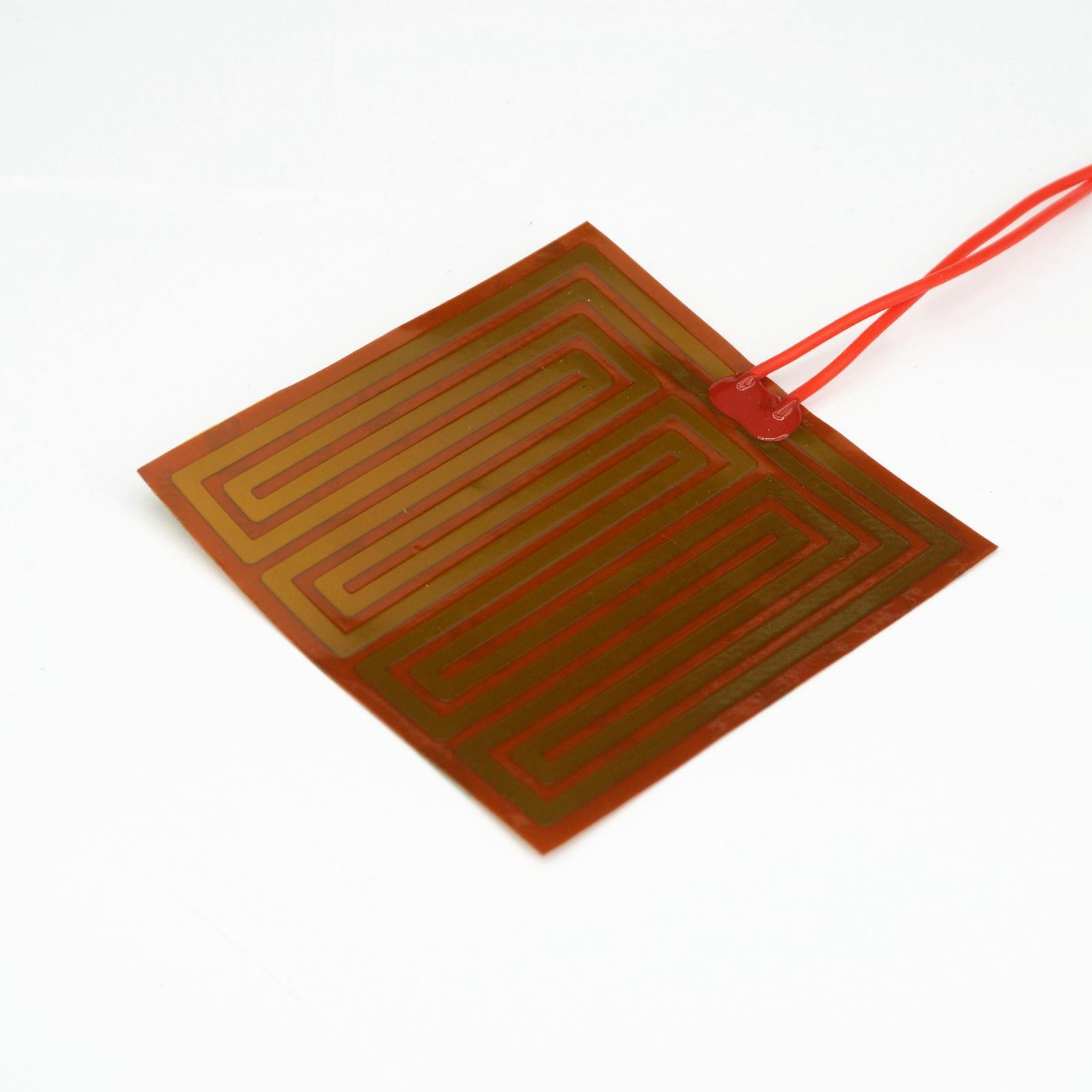 100x100mm 90 watt 12 v DC Flexiable Eeletric Polyimid Film Heizung Heizung element für Elektrische Drähte