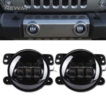 2pcs 30w Chip led 4 inch White Round fog lights lens Projector 4\'\' Fog Lamp For Offroad Jeep Wrangler Dodge Chrysler - DISCOUNT ITEM  10 OFF Automobiles & Motorcycles