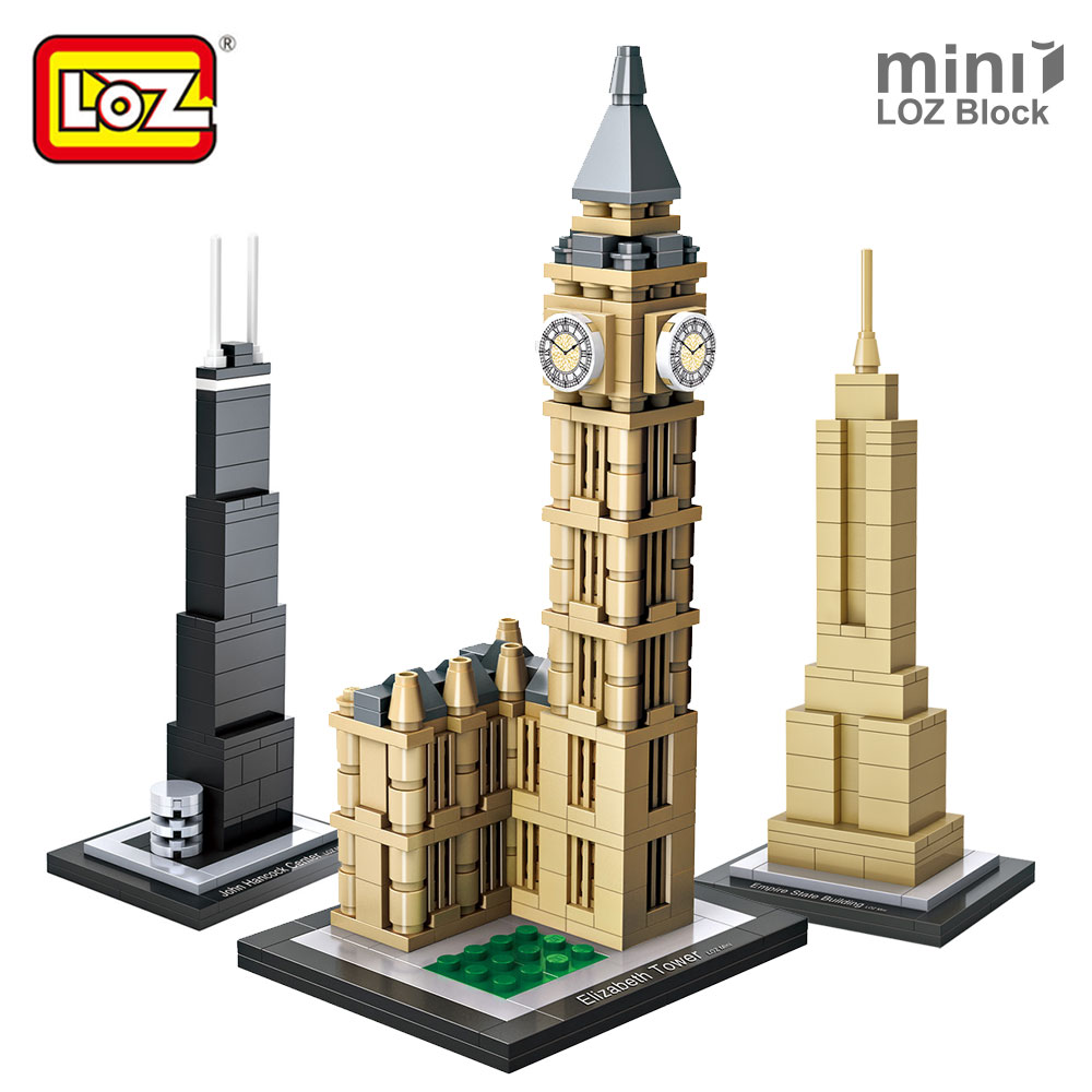 LOZ Mini Blocks Architecture Blocks Small Building Blocks City Diy Creative Bricks Toys House Model Toy Tower Farnsworth House loz mini blocks building blocks architecture new york empire state building model toys for children city bricks assembly 1002