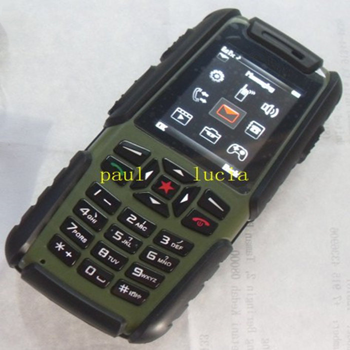 IP67 Waterproof Dustproof Shockproof Quality Outdoor Mobile A81 Military Cell Phone Quad Band Dual Sim Card