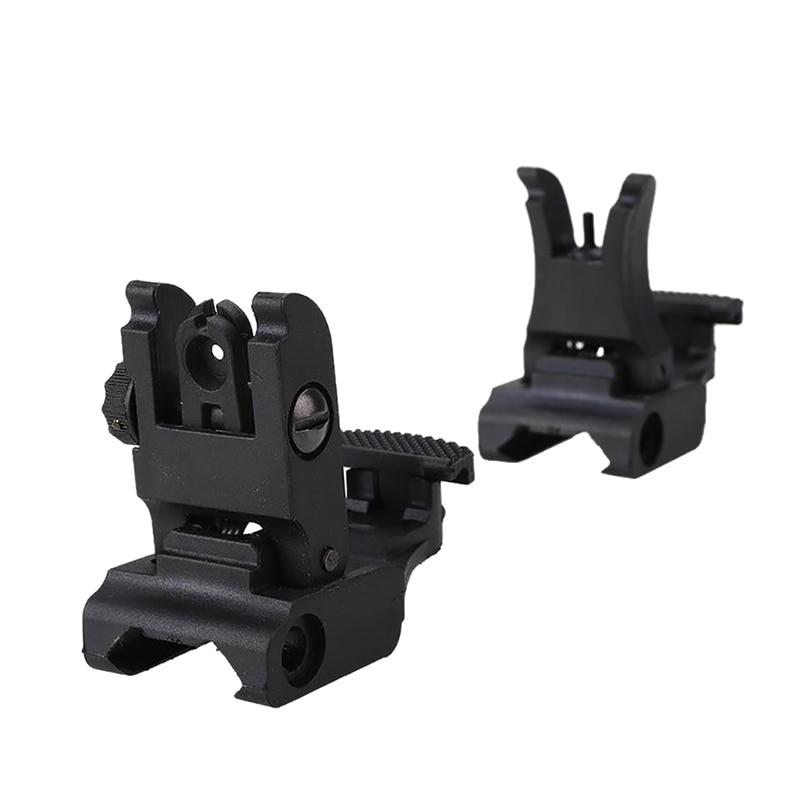 Folding Tactical Flip up Sight Rear Front Sight Mount Transition Backup Iron Sight Rapid Rifle RTS Sight K5