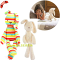 Hot Sales Baby Toys Soft Colorful Rabbit Plush Toy For Girls Infant Bunny Dolls TY8