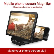 Whosale 3D Screen Amplifier Mobile Phone Magnifying Glass HD Stand for Video Folding Screen Enlarged Eyes Protection Holder(China)