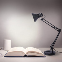 2019 online star item Household daily necessities Heavy Base Architect Spring Balanced Swing Arm Desk Lamp Table Lamp Black