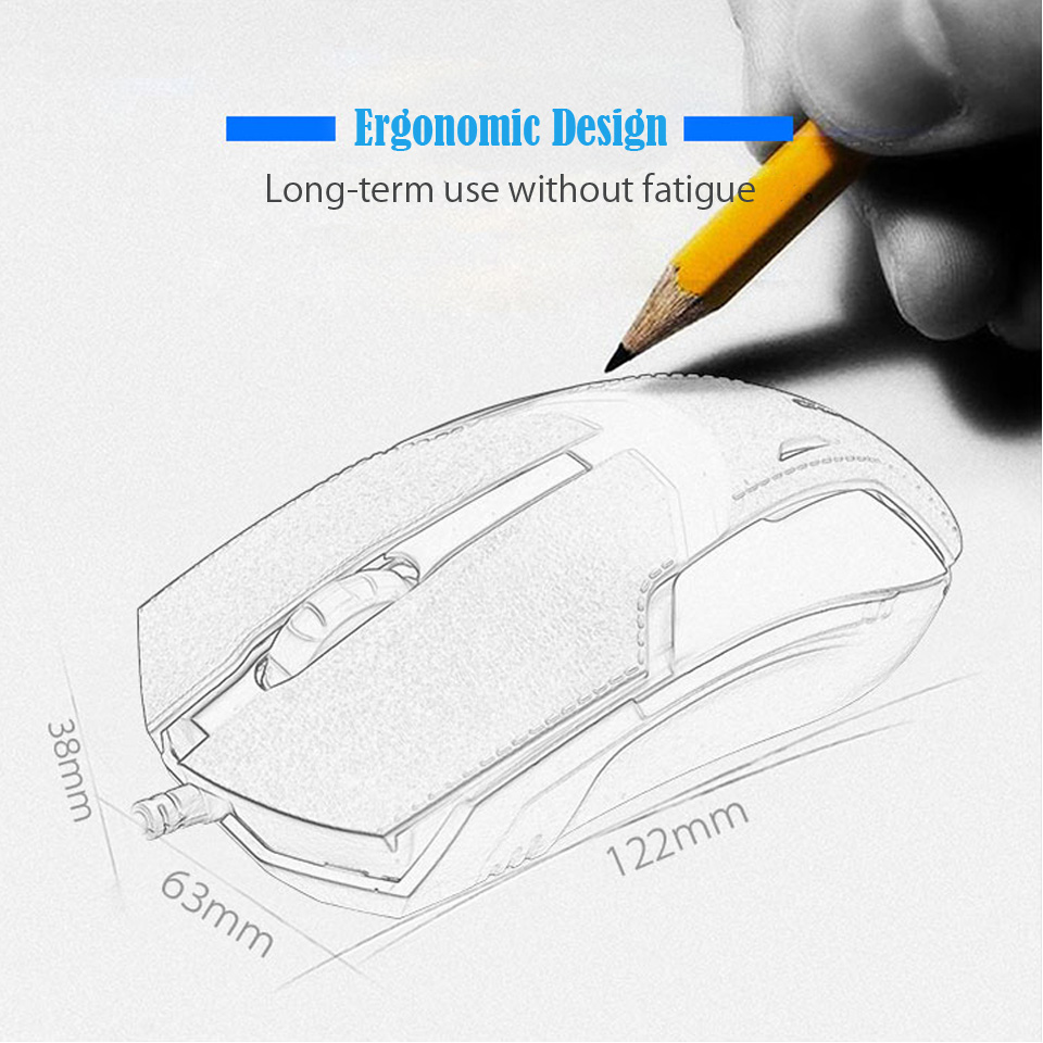 2018 Shipadoo A10 Optical Usb Mouse Wired Computer Rechargeable Wiring Diagram 2