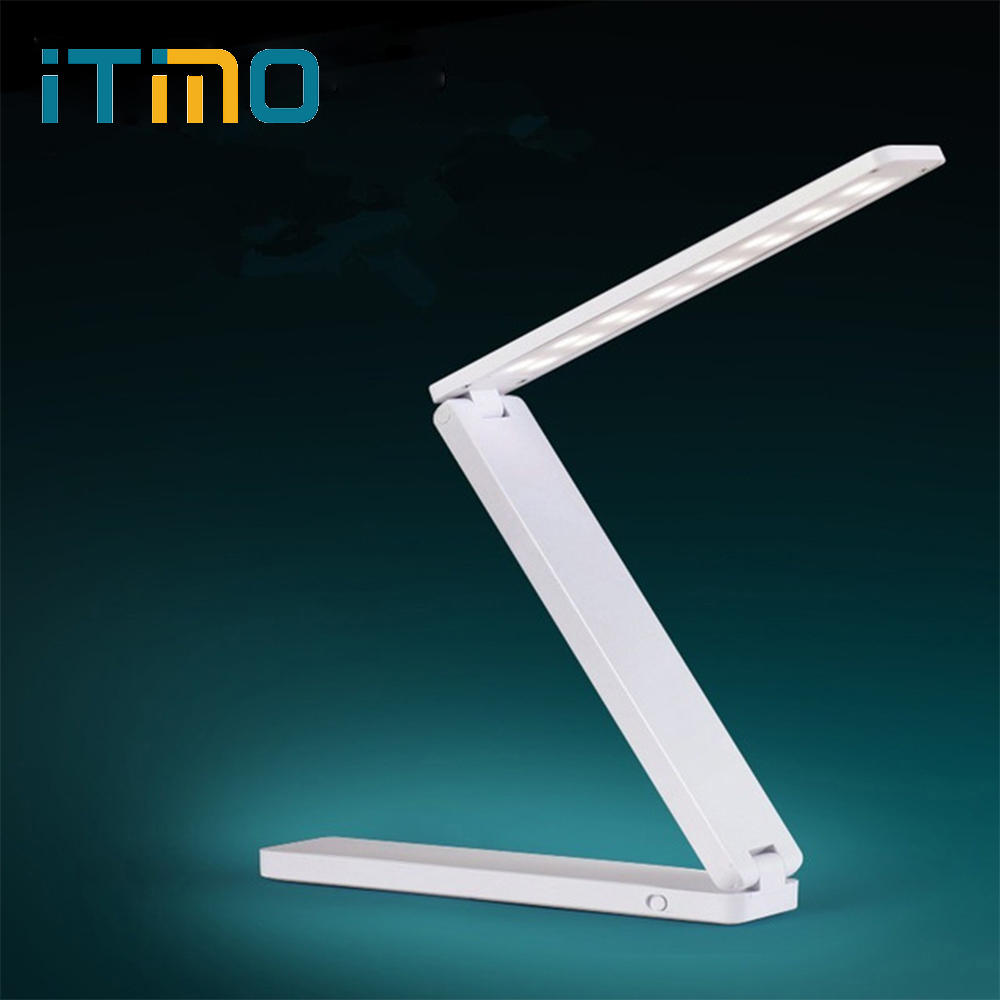 Table lamp Rechargeable Folding lamp LED desk lamps High Quality Soft White Night light Living room Students Reading Desk Light new arrival t10 led panel desk table light lamp 7w 12v desk lamps reading light sliding touch dimmer desk night light lamps hr