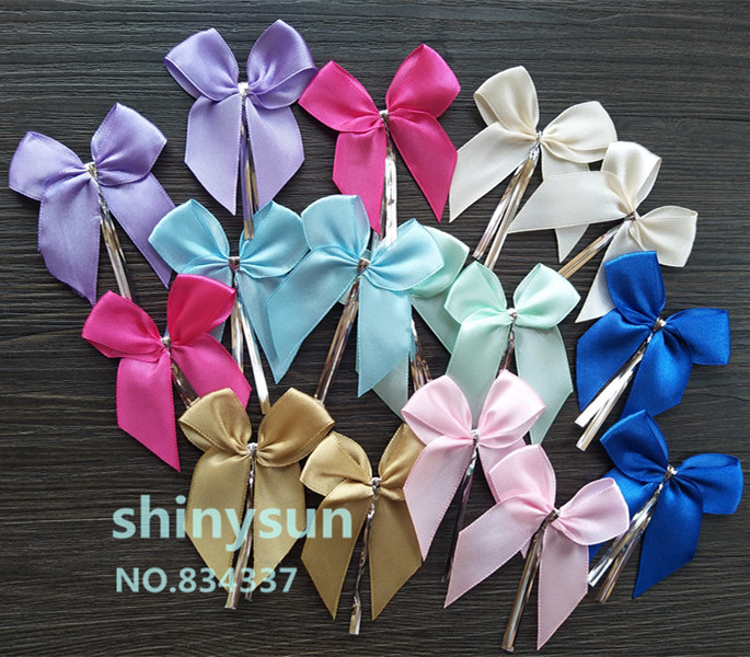 20pcs/lot  Solid Color Bowknot Sealing Wire Bakery Packing Sealing Bread Cake Decoration Wire Twist Tie