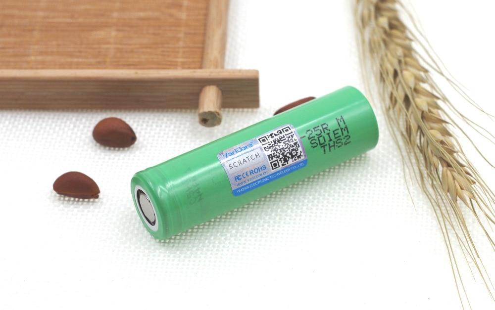 VariCore original INR18650 25RM 18650 2500 mAh discharge lithium battery 20A Electronic Cigarette Rechargeable batteries