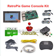 Raspberry Pi 3 Model B 32GB RetroPie Game Kit with 7 Inch 1024*600 LCD Touch Screen and 2pcs SNES Gamepads Controllers