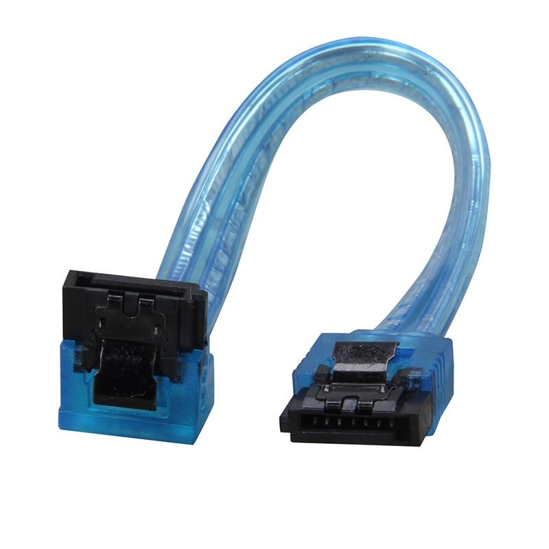 "Blue 18/"" SATA 3.0 Cable SATA3 III 6GB//s Right Angle Serial ATA SSD Hard Drive"