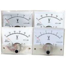 Analog Panel Volt Voltage Meter Voltmeter Gauge 85C1 DC 10/20/30/50/100/200V цены