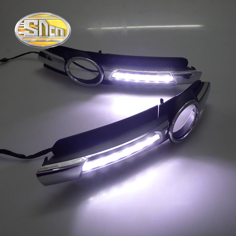 SNCN LED Daytime Running Light For Audi A6 2005 2006 2007 2008,Car Accessories Waterproof ABS 12V DRL Fog Lamp Decoration car fog lights for volkswagen vw passat b6 2005 2006 2007 2008 2009 2010 2014 car modification 12v led drl daytime running light