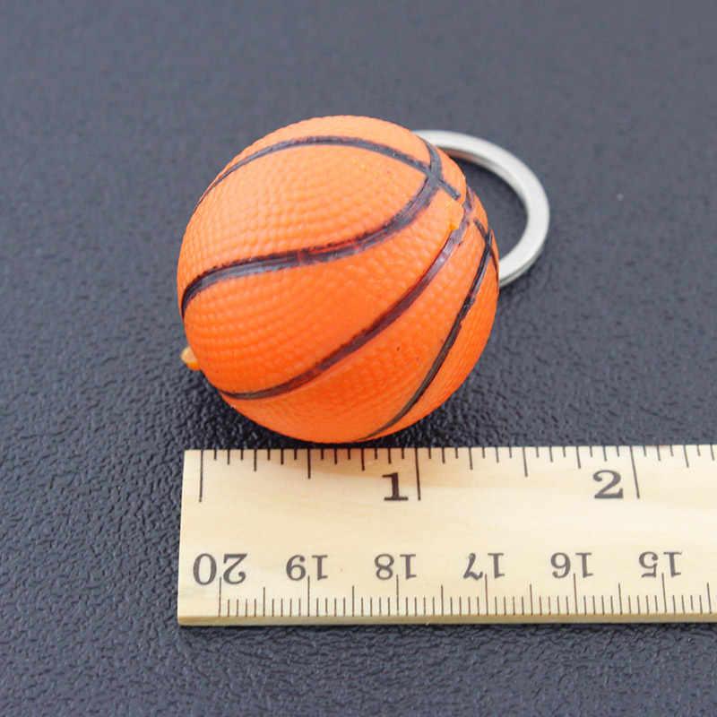 TAFREE simulación de baloncesto colgante llavero bolsa colgante llavero actividades deportivas llavero titular de la llavero de la memoria del ventilador regalos joyería