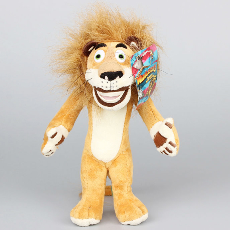 1pc 25cm Cute Madagascar Lion Plush Toy Staffed Soft African Lion Doll Kids Love Toy Children's Gift Doll super cute plush toy dog doll as a christmas gift for children s home decoration 20