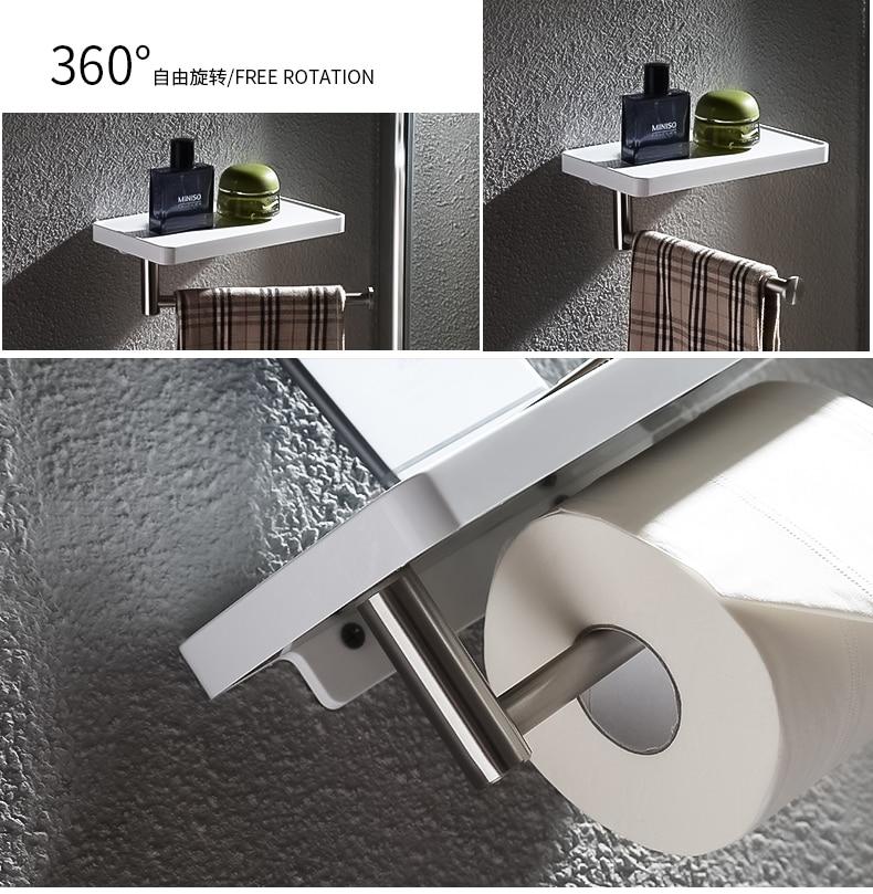 Популярный белый абс пластмасса и полка из нержавеющей стали для ванной комнаты с полотенцесушителем для ПОЛОТЕНЦЕДЕРЖАТЕЛЬ для ванной комнаты Аксессуары для оборудования - 3