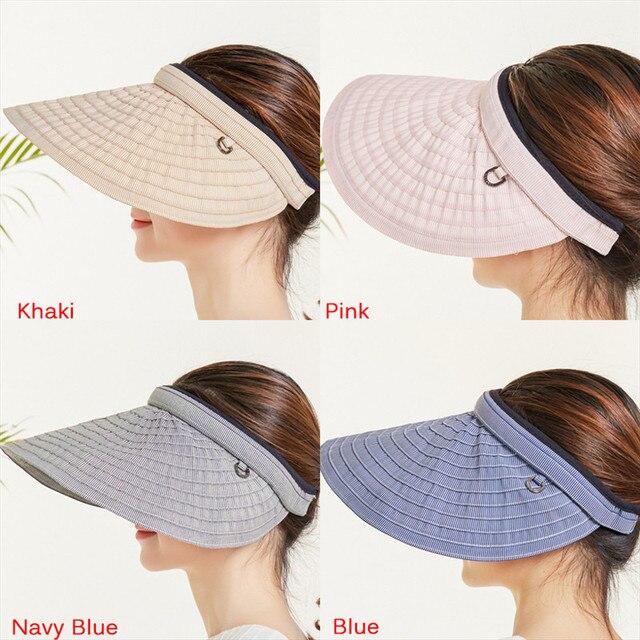 c049e5fe 1 PC Female Suncreen Visor Summer Hat Sun Visor Cap Beach Hat Ladies Sun Hat