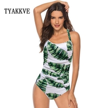 TYAKKVE 2019 new floral one-piece swimsuit push up the retro female sense large size S-XXL
