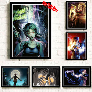 BLACK LAGOON Revy Two-Hand Anime Pop Coated paper Poster Art Print Painting Wall Posters(China)