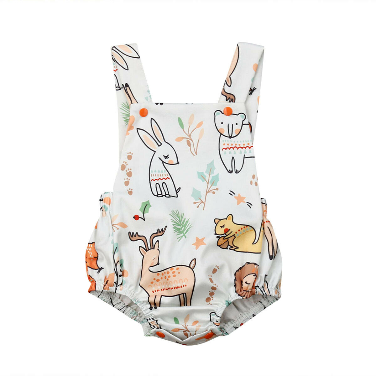 Summer Toddler Baby Girls   Romper   Cartoon Sleeveless One-pieces Jumpsuit Backless Sunsuit Outfit Clothes for 0-24M Babies Girls