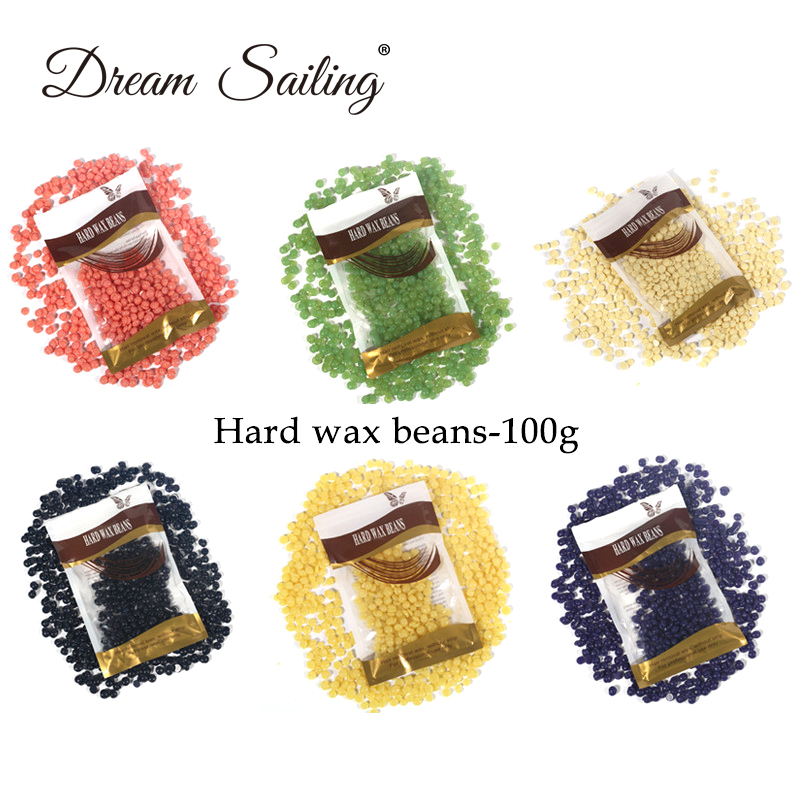 Wax Beans 100 G Hot Film Hair Removal Cream Hard Wax No Strip Depilatory Bikini Brazilian Body Wax Beans Free Shipping