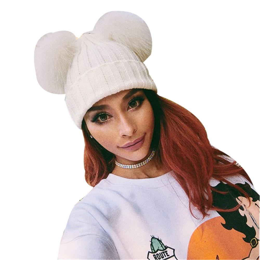 #4 DROPSHIP 2018 NEW HOT Fashion Women Winter Warm Hats Crochet Knit Hairball Beanie Cap Freeship