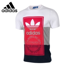 Original New Arrival 2017 Adidas Originals PANEL TONGUE TE Mens T-shirts short sleeve Sportswear