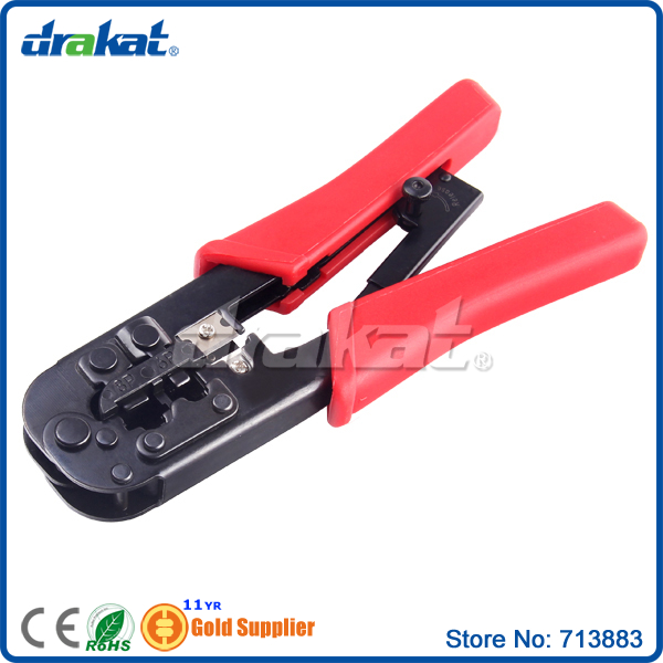 Network Cable Crimper plier RJ45 RJ11 for insulated terminals