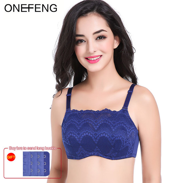 70fad5e457 ONEFENG 75-95ABC Breast Form Bra Mastectomy Women Bra Designed with Pockets  for Silicone Breast Prosthesis