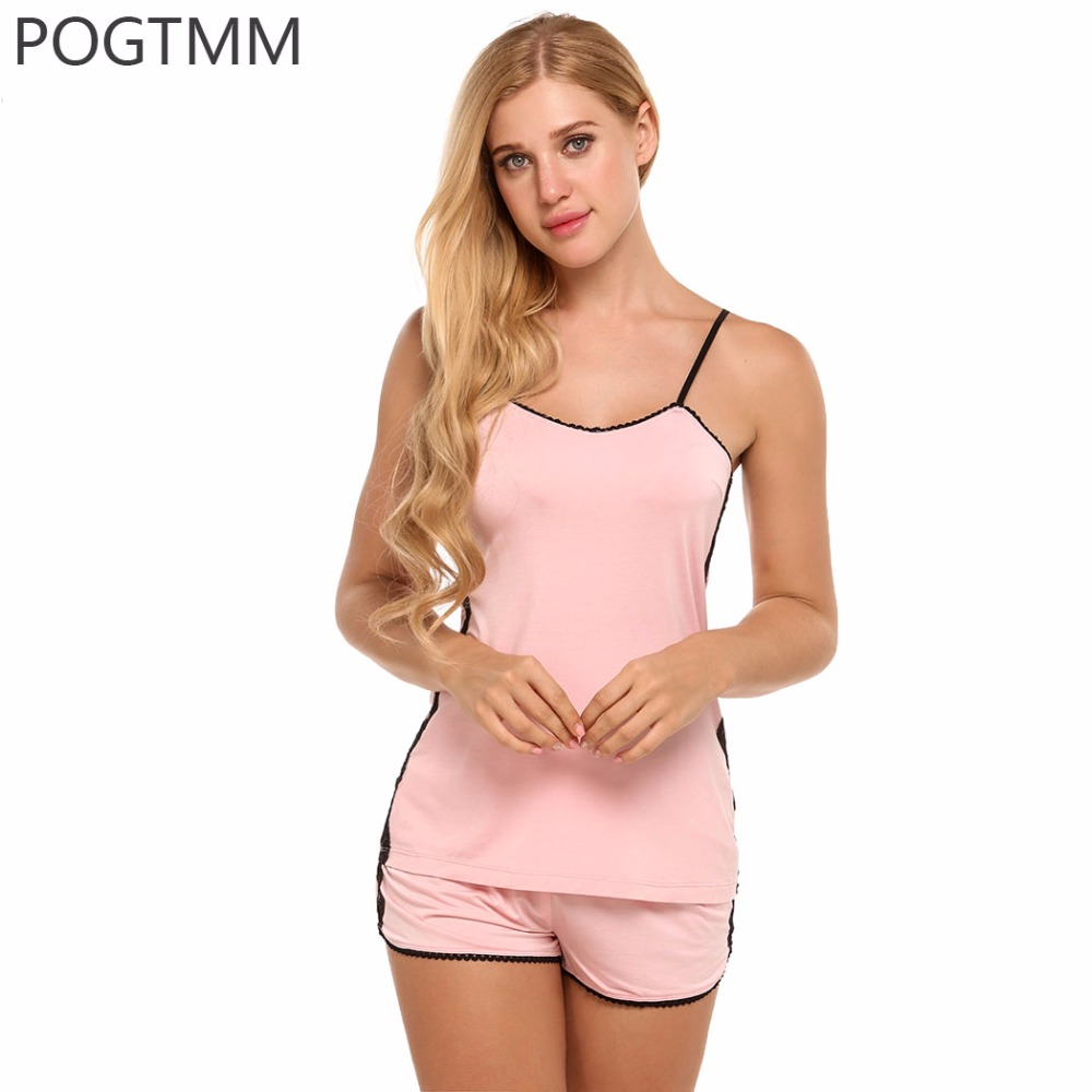 Summer Sexy Short Pajamas Suit Women Lace Sleepwear Camis Tank Top & Shorts Pyjama Set Nightwear 2 Piece Lady Home Clothing XXL