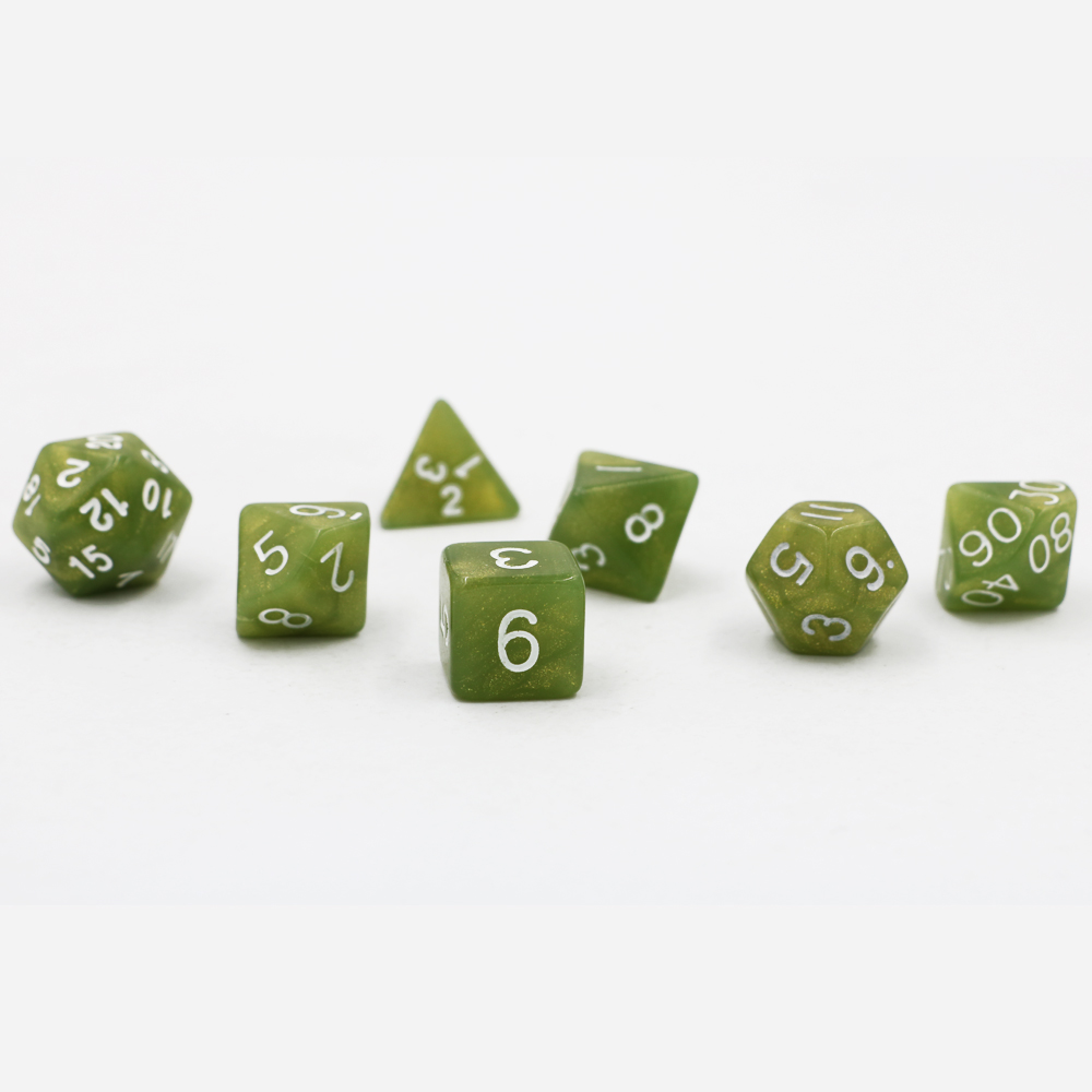 Dungeons & Dragons 7pcs/set Creative RPG Game <font><b>Dice</b></font> D&D Colorful Multicolor <font><b>Dice</b></font> DND Mixed Matcha <font><b>Green</b></font> D4 <font><b>D6</b></font> D8 D10 D12 D20 image