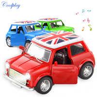 Coche de aleación de juguete en miniatura moldeado a presión para niños, juguete en miniatura con luz y sonido, Colección Brinquedos, regalo de Navidad, 1:36