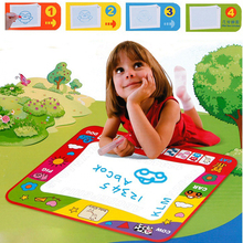 Water Draw Creative Reusable Painting Writing Toys Doodle Mats 80x60cm + 2 Water Drawing Pen Children Learning Toy
