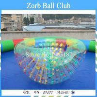 Free Shipping 1.0mm TPU Color Dots Beach Cocoon Coconut Balls With Water Pool,coco Balls Inflatable Water Game For Sale