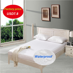 Smooth Waterproof Mattress Protector Cover for Kids Bed Wetting Breathable Hypoallergenic Protection Pad Cover Matress Anti-mite