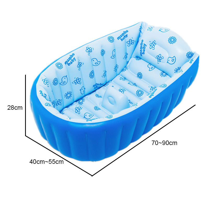 Portable Inflatable Baby Bath Kids Infant Bathtub Shower ...