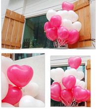 2g 50pcs/lot Romantic lovely pink white Heart Shaped Pearl Latex Balloons Wedding Birthday Party Decor Valentines Day baloons