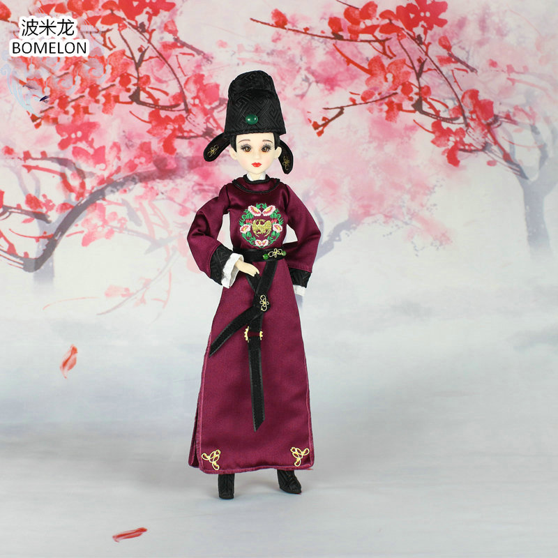 31cm Shangguan Wan'er Jointed Doll Tang Talented Woman Action Toy Figures Handmade Chinese Ancient Costume Bjd Dolls Girls Gift 11pcs lot mini resin doll three kingdoms heros toy figures original design china ethnic dolls gift chinese souvenirs decorations
