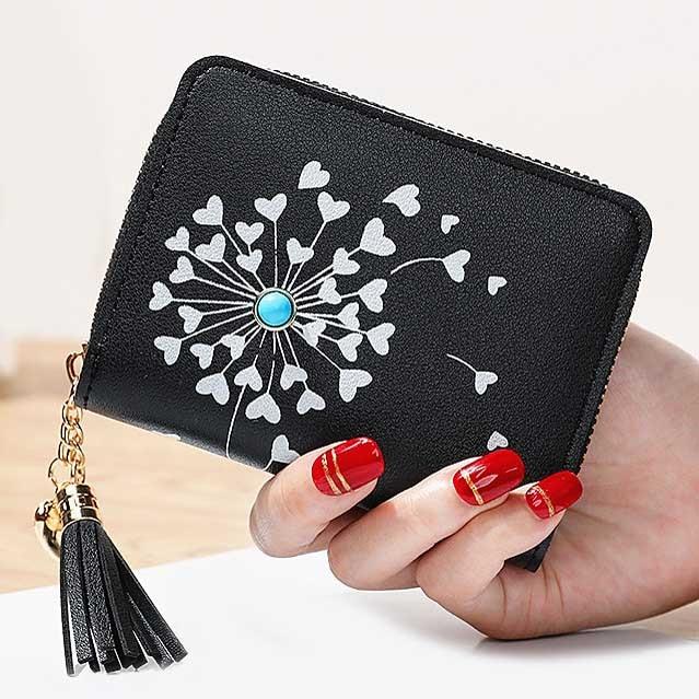 Tassels Zipper Coin Purses Cards Holder Money Bags Woman Heart Wallet Lady Short Purse Pouch Girls Notecase Pocket Wallets Bag