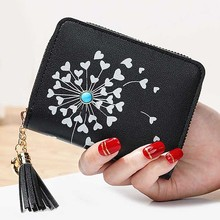 Tassels Zipper Coin Purses Cards Holder Money Bags Woman Heart Wallet Lady Short Purse Pouch Girls Notecase Pocket Wallets Bag tonuox women wallets cute dogs animal pattern casual lady coin purse pocket handbags long moneybags wallet pouch dog purses bags