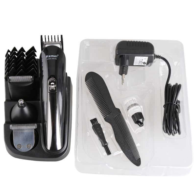 8 in 1 professional hair trimmer rechargeable advanced hair trimmer Kemei KM-500 hair clippers salon equipment