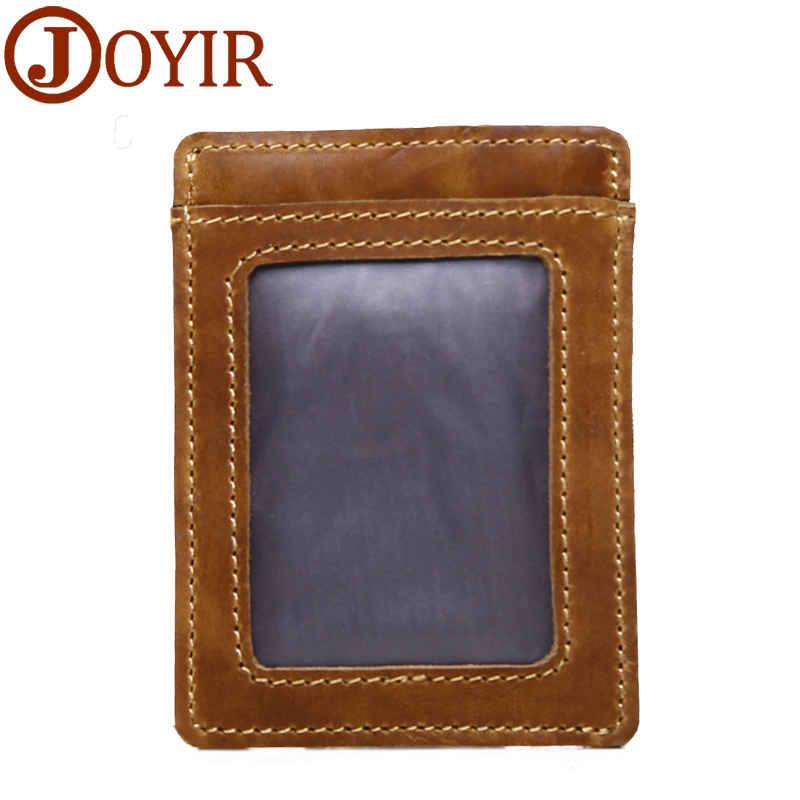 Mans Wallets Luxury Genuine Leather Credit Card ID Card Holder Brown Mens Purse
