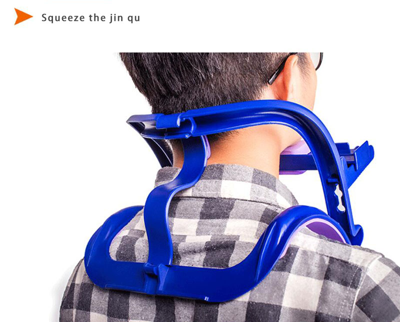 A neck brace cervical traction stretching household neck collar correction straightened the bow to repair
