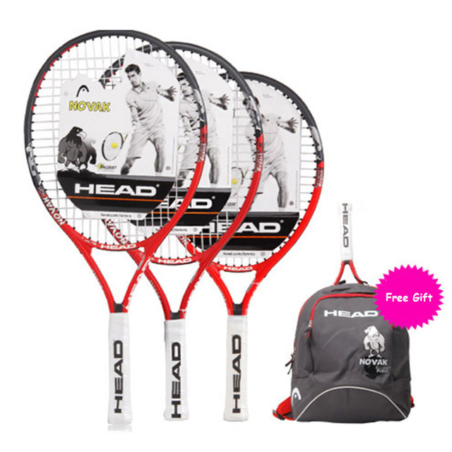Head Children Tennis Racket Paddle With Bagpack Tenis Raquete Sports Training Free Gift Overgrip Damper String Boy Girl Kids